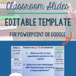 Daily Agenda Slide Template