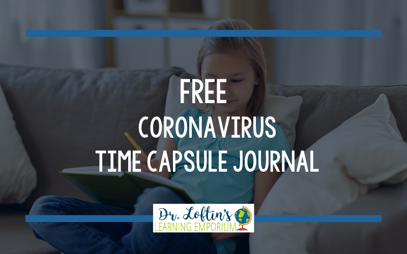Free Coronavirus Time Capsule Journal