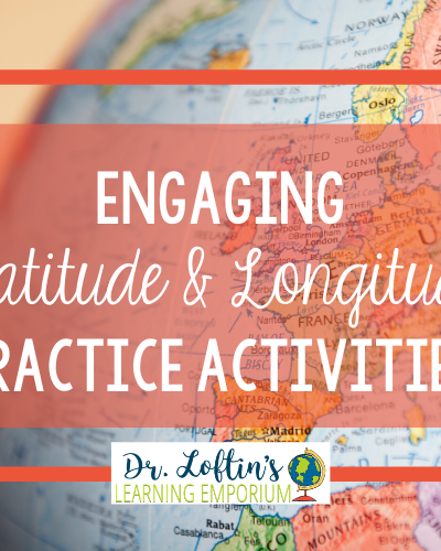 Engaging Latitude and Longitude Practice Activities with Globe Image