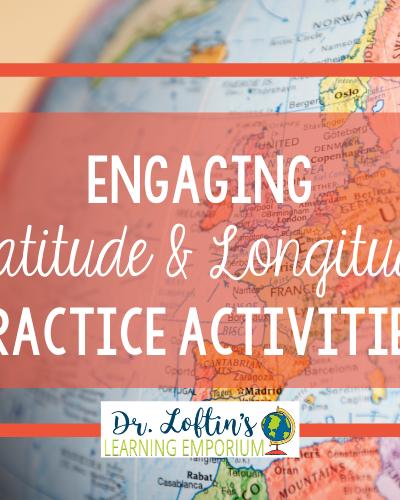 Engaging Latitude and Longitude Practice Activities with Globe Image