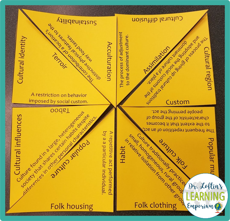 Example of vocabulary puzzle made with a blank tarsia puzzle template