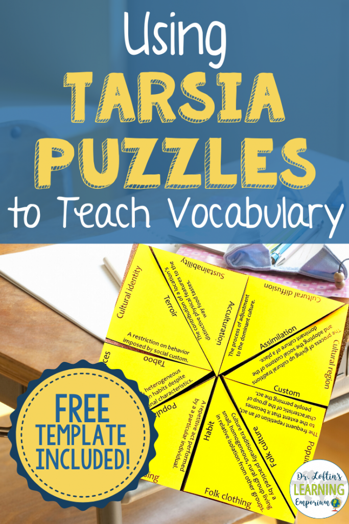 Using Tarsia Puzzles to Teach Vocabulary  Free Blank Tarsia Puzzle Template Included