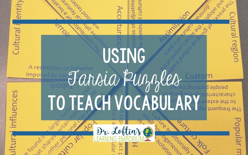 Using Tarsia Puzzles to Teach Vocabulary