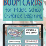 Boom Cards for Distance Learning in Middle School