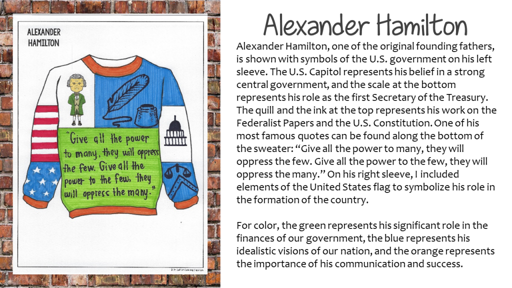 Alexander Hamilton Ugly Holiday Sweater with Rationale